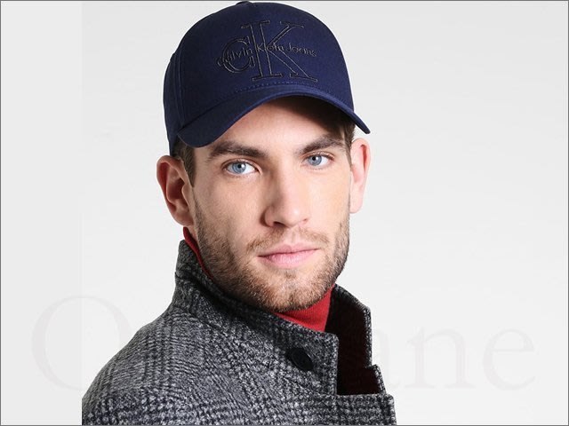 Calvin Klein 卡文克萊帥氣 CK深藍色繡字 棒球帽 鴨舌帽 防曬遮陽帽 高爾夫球帽 可調式 愛Coach包包