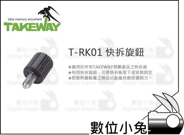 數位小兔【Takeway T-RK01 快拆旋鈕】T-RC01 T-RC02 T-RC03 快拆 快裝 配件 雲台