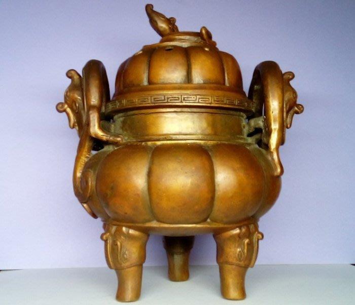 @居士林@大明宣德-銅香爐.尺寸:高19公分.寬13公分.重量1.53公斤