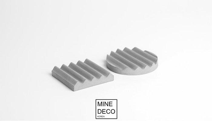 【MINE DECO】極簡 |北歐混凝土水泥波浪桌面置物盤/辦公文具/收納盤/商空/拍照道具/杯墊(現貨)M0292