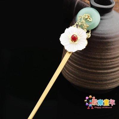 髮簪步搖復古中國古風古典手工金屬簪子盤髮流蘇飾品