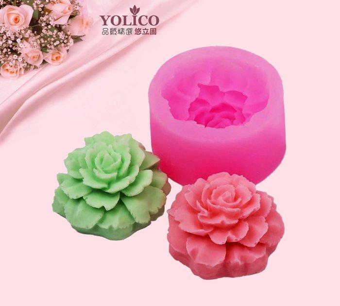 【悠立固】Y596 康乃馨液態矽膠模 翻糖模 手工皂模蛋糕模 烘焙工具 巧克力模 冰格 布丁果凍模軟糖模