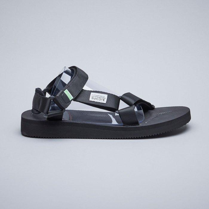 KS▸男女鞋SUICOKE DEPA-CAB 022 黑色 抗菌內裡 尼龍 魔鬼氈 休閒涼鞋【SK19022CABBK】