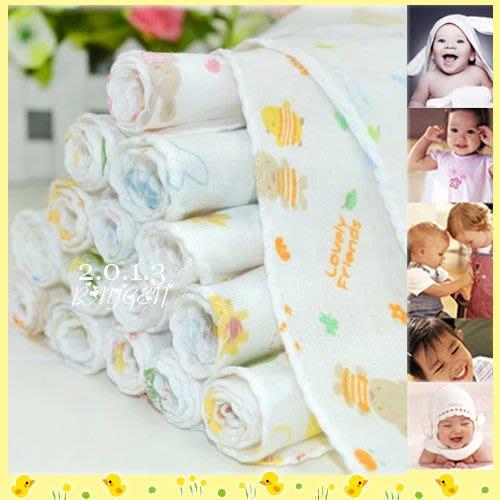 八號倉庫  紗布巾-日單純棉雙層紗布巾/手帕 10條一組(包)新生兒必備【2Z174C0185】