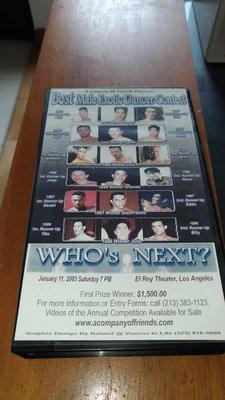 美國舞男競賽1 版絕錄影帶VHS  best male dancer contest