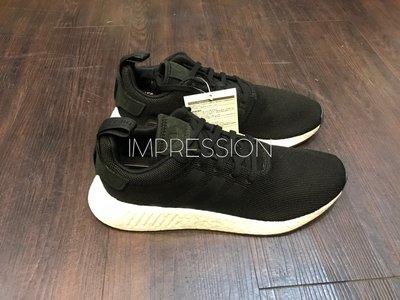 【IMPRESSION】ADIDAS NMD_R2 BOOST 黑白色 網布 愛迪達 編織 男鞋 慢跑 CQ2402