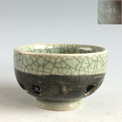 【本齋】一元起標 每週三結標~~日本茶道具『相馬本家』作 大崛相馬燒茶杯~q526k