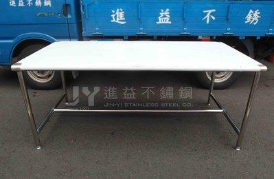 【進益不鏽鋼】圓角單層工作桌 工作桌 防撞桌  無塵室桌 醫院桌 不鏽鋼訂製 客製化不鏽鋼桌 訂製工作台 學校餐桌