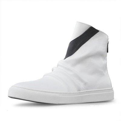 【格倫雅】^夏真皮英倫馬丁靴男靴中筒靴休閑短靴后拉鏈高幫鞋144[g-l-y36