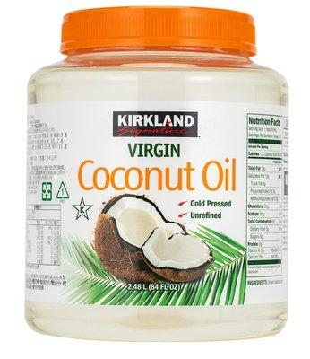 好市多代購-Kirkland Signature 科克蘭 冷壓初榨椰子油 2381 公克