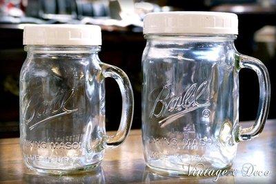[現貨]美國新品Ball白色瓶蓋把手梅森罐/玻璃瓶 Ball Mason Jars 16oz/24oz [BALL-L]