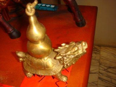 銅葫蘆靈龍龜【12吋】高30cm 風水防煞檔橫樑煞氣專用