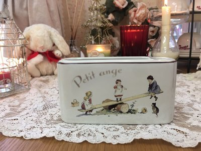 鄉村童話 Many 童趣 陶瓷便條台 筆筒 收納 日本製