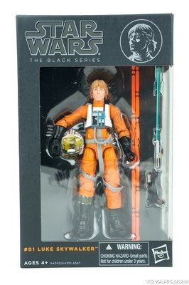 Hasbro Star Wars The Black Series 6 inch Luke Skywalker  X-wing Rebel pilot
