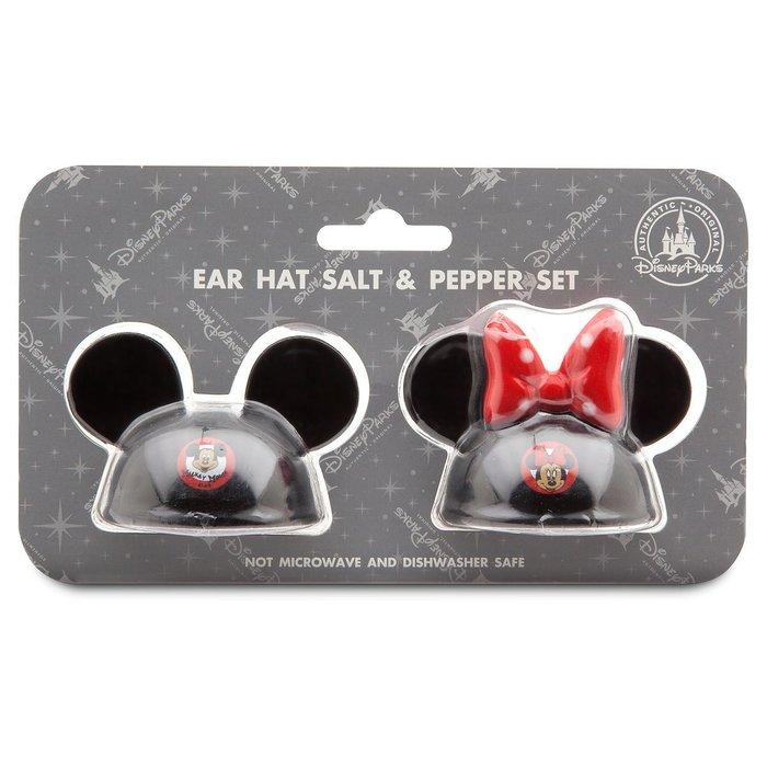 代購現貨 美國加州迪士尼商品 米奇和米妮老鼠耳帽鹽罐和胡椒罐組合