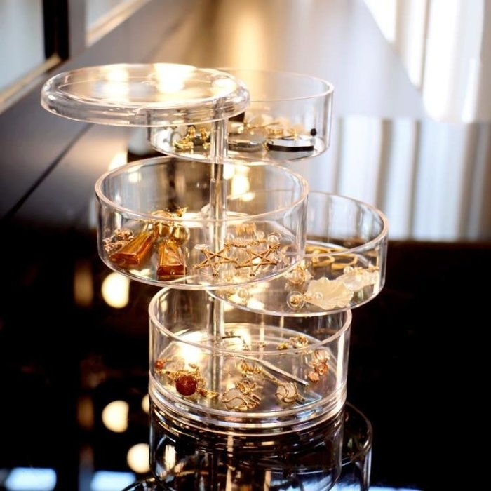 tw/7-14 世界購 首飾盒 多層公主ins風耳環架戒指項鏈耳釘手飾品發夾小首飾盒