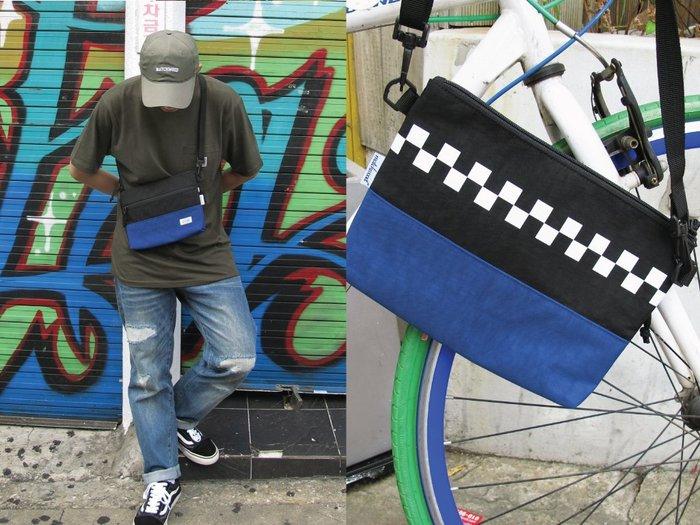 【Matchwood直營】Matchwood Sacoche 簡易版小物袋 黑藍款 斜肩背隨身小包 防潑水 開學限時優惠
