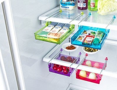 ~Tinny小鋪(烘焙 雜貨)~ 冰箱掛式滑槽收納盒 收納架