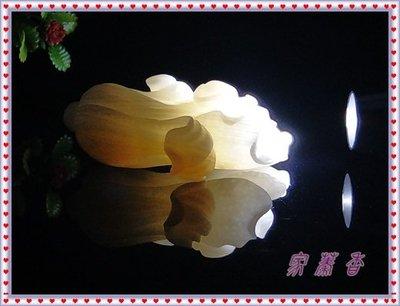 【家蓁香精品館】 收藏級 海南天然極品 水透料 晶瑩剔透料 精雕『玉白菜、遇百財』 工料俱佳 硨磲掛件墜子(款D-17)