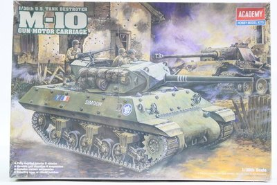 【統一模型玩具店】ACADEMY《美軍 自走砲驅逐坦克 M-10 TANK DESTROYER》1:35 # 1393
