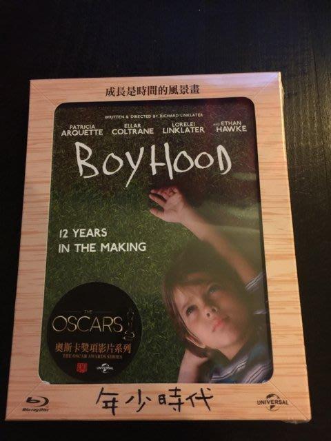 (全新未拆封)年少時代 Boyhood 紙相框紀念版 藍光BD(傳訊公司貨)限量特價
