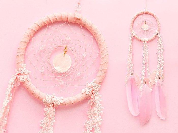 捕夢網 DIY材料包✿粉紅色✿夢幻風格 『繼承者們款式』聖誕節禮物、情人節禮物、交換禮物、生日禮物、畢業禮物