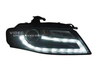 威德汽車 A4 B8 2008-2012 AUDI 光導 LED DRL 日行燈 遠近 魚眼 大燈