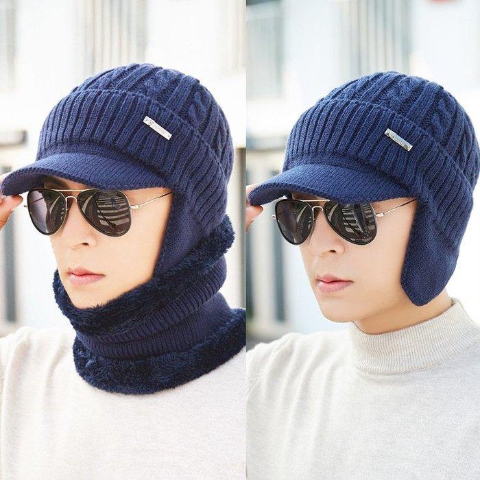 【秘密款】針織帽加厚保暖帽子男士冬季戶外護耳帽加絨毛線帽針織套頭帽休閒鴨舌帽百搭