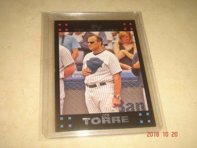 美國職棒 Yankees Manager Joe Torre 2007 Topps #243 球員卡