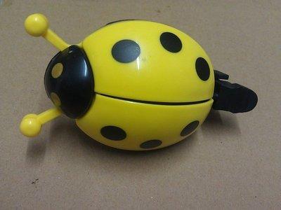 (台灣製)自行車可愛車鈴 瓢蟲鈴鐺 車鈴 黃色 可打開翅膀 鈴鐺 瓢蟲車鈴 鈴噹 姆指彈
