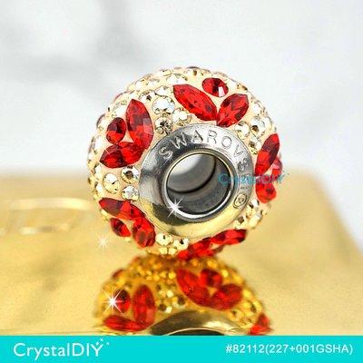 SWAROVSKI迷人密鑲串飾#82112不銹鋼材, BeCharmed Pave 紅花環串飾可加入潘朵拉手鍊 新到貨