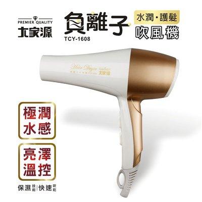 『YoE幽壹小家電』大家源 (TCY-1608) 1000W 負離子水潤護髮吹風機