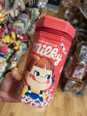 100% 原裝日本 Peko Milky 牛奶妹 超靚 六角形 防水仿皮膠料 筆袋 文具袋 pencil Case 小物袋