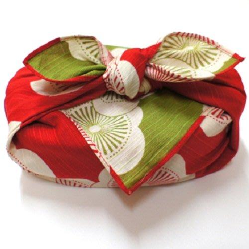 《散步生活雜貨-和雜貨散步》日本製 伊砂文樣 和雜貨 48x48cm 兩面色 風呂敷巾 包巾 大方巾-梅(紅+綠)