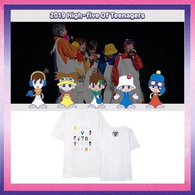 現貨~低價促銷~KPOP H.O.T T-恤 High-five演唱會同款 短袖 應援服WWAB334~lkjs1528