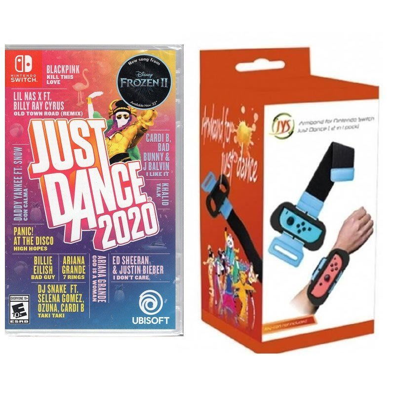 Switch遊戲 NS 舞力全開 2020+JYS 體感腕帶套組 JUST DANCE 2020 中英文版【板橋魔力】
