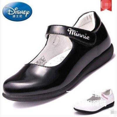 【格倫雅】^迪士尼童鞋兒童皮鞋春學生鞋女童大童公主鞋單鞋16565[g-l-y92