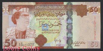 【Louis Coins】B618-LIBYA--2008利比亞紙幣50 Dinars