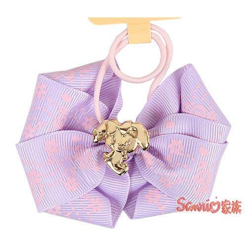 《東京家族》現貨日本三麗鷗 蹦蹦兔 粉嫩緞帶蝴蝶結彈力髮束(音符) 髮圈髮飾