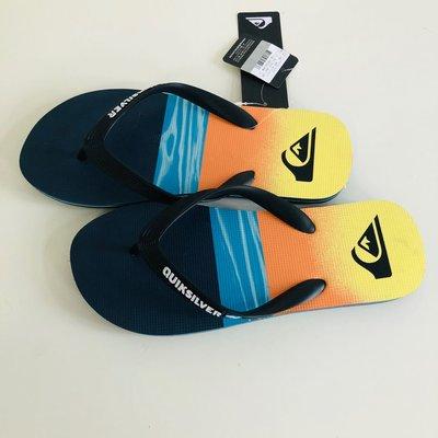 《現貨》QUIKSILVER 澳洲 男生 海灘拖鞋 US8( MOLOKAI HOLD DOWN 人字夾腳拖鞋-橘色)
