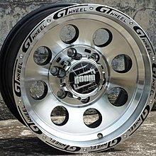 GT品牌4X4精品JIMNY吉米專用鋁圈15吋5孔139.7 10J ET-44中心孔108黑铣字