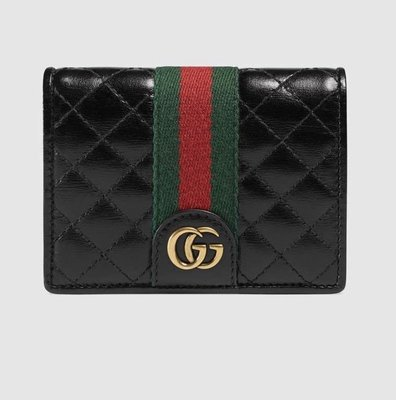 [OHYA精品代購]2019 全新代購 Gucci 古馳 536453 Leather card case with Double G