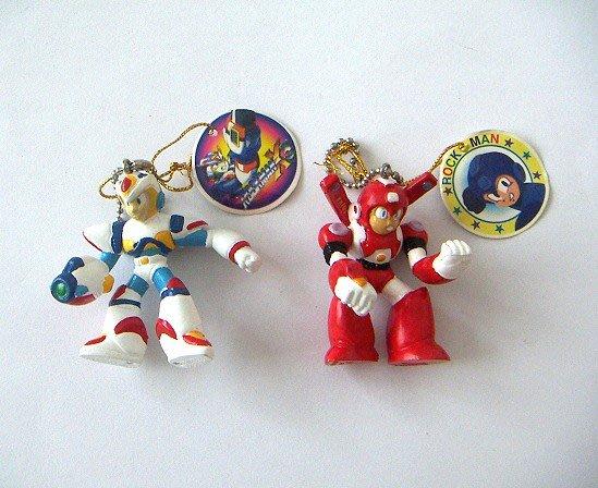 陽光一品~~洛克人系列-1~人物珠鍊吊飾-紅.藍 (2款/個) ~~ 特價品