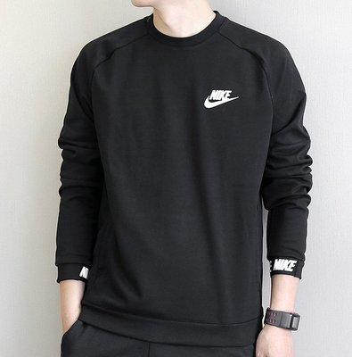 Nike 861745  新款 耐吉男圓領運動T桖 經典款棉質大學TEE 套頭衛衣 運動T恤 耐克長袖上衣T恤/澤米