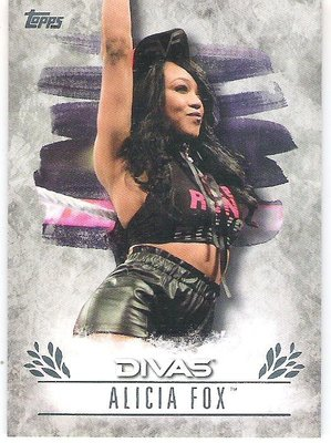 2016 TOPPS WWE UNDISPUTED #DR-7 ALICIA FOX  特殊卡