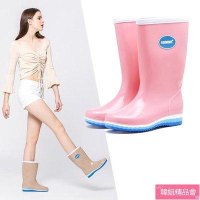 【9折免運】 高筒長筒女士雨鞋簡約雨靴防滑加絨可拆雨鞋【設計的店】