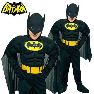 小童 肌肉 蝙蝠俠 Batman 超級英雄 Superhero Dark Knight 黑夜之神 萬聖節 Halloween Costume Yr 6-10