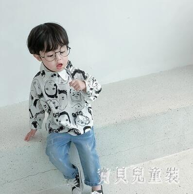 88折促銷 男童襯衫 2019新款韓版寶寶長袖上衣小男孩洋氣襯衣春 BF22262