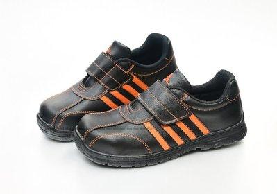 Soletec 超鐵 安全工作鞋 鞋面皮革 自黏 台灣製造 鋼頭 出清款 25 25.5   CF1089 黑橘