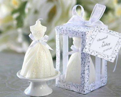 樂芙 公主蠟燭禮盒 * 婚紗蠟燭 白紗蠟燭 禮服蠟燭 歐美婚禮小物 情人節蠟燭 造型蠟燭 佈置用品 祝福小卡